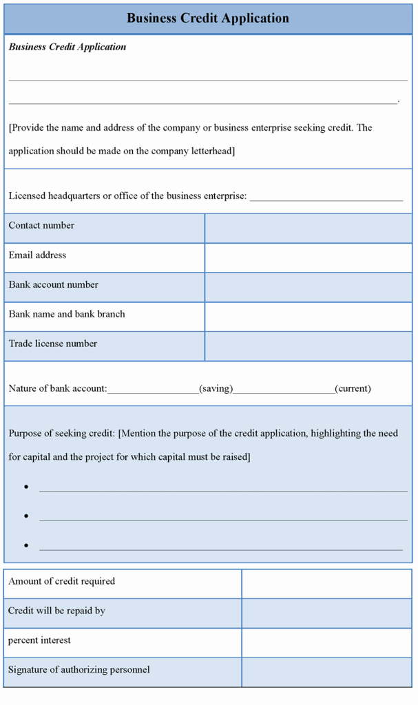 Business Credit Application Template Awesome Application Template for Business Credit Sample Of