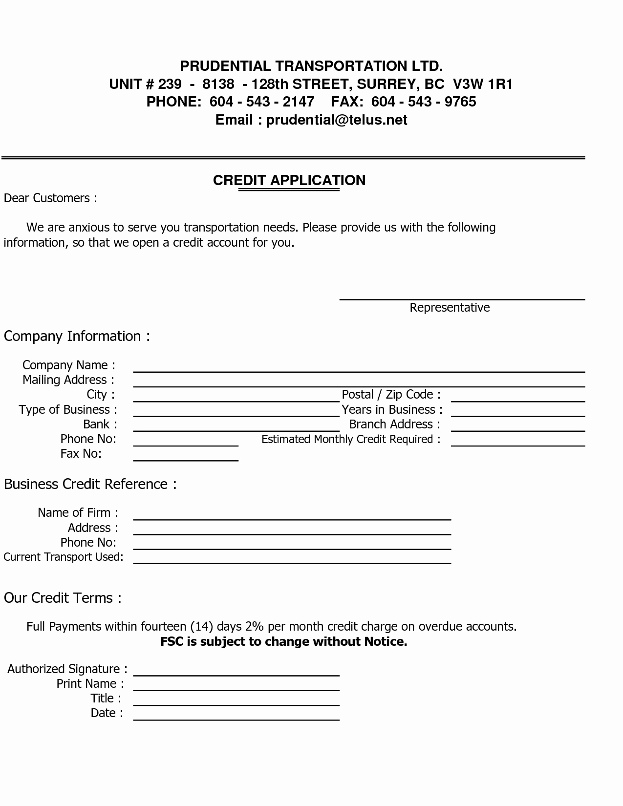 Business Credit Application Template Best Of Business Credit Reference Template Free Printable Documents
