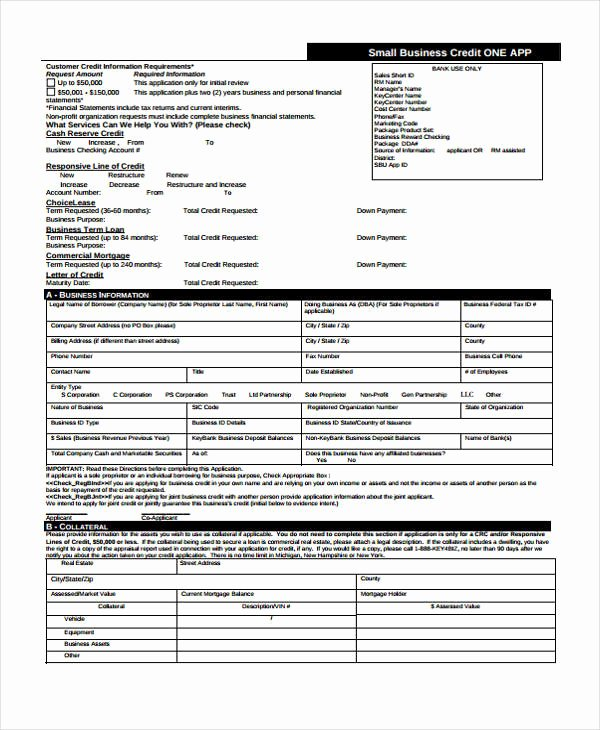 Business Credit Application Template New 15 Credit Application form Templates