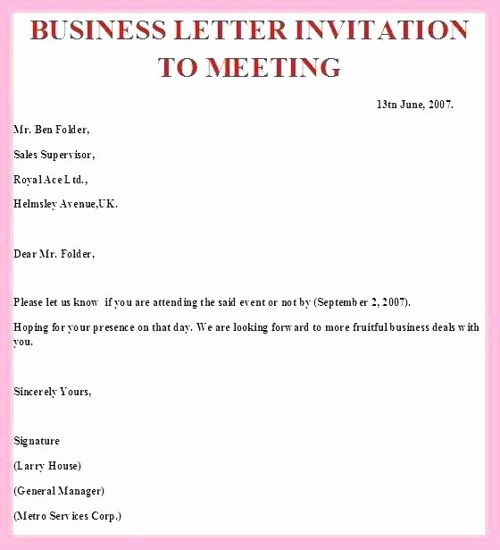 Business Dinner Invitation Template Awesome formal Party Templates Pany Letter for tourist Visa