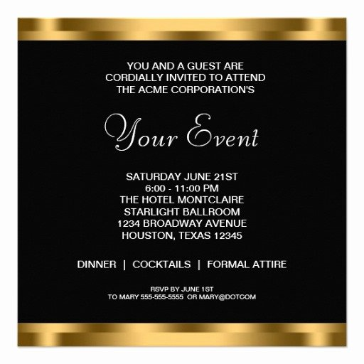 Business Dinner Invitation Template Best Of Best S Of Business event Invitations Wording