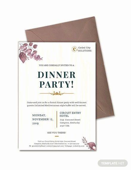 Business Dinner Invitation Template Elegant 59 Invitation Templates Psd Ai Word Indesign