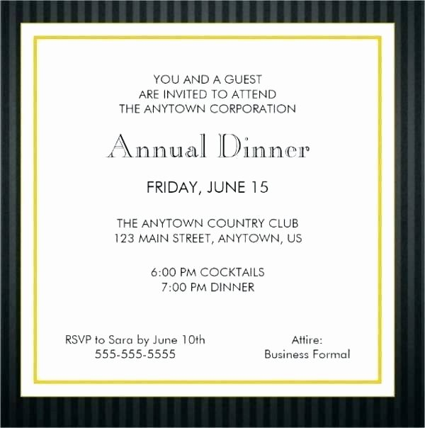 Business Dinner Invitation Template Luxury Fab Dinner Party Invitation Wording Examples You Can Use