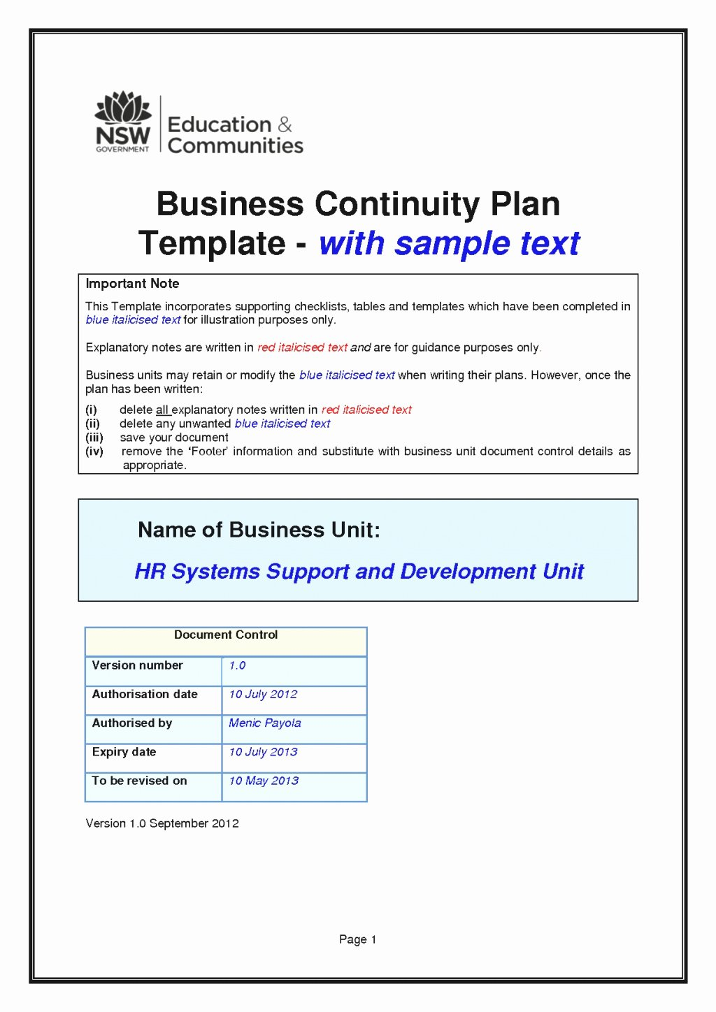 Business Disaster Recovery Plan Template Awesome It Disaster Recovery Dr Plan Template A Free Download