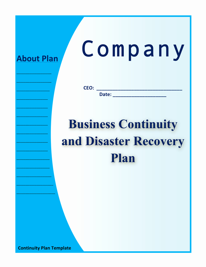 Business Disaster Recovery Plan Template Best Of Business Continuity and Disaster Recovery Plan Template In