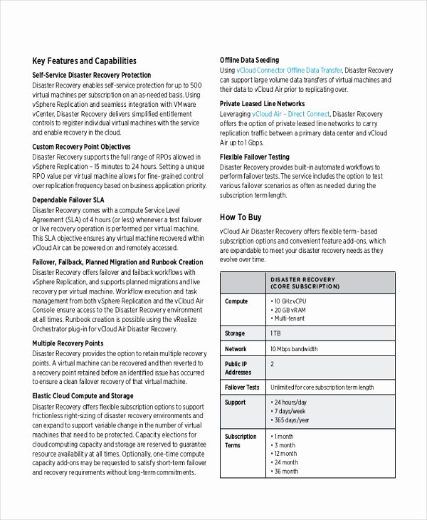 Business Disaster Recovery Plan Template Elegant 9 Disaster Recovery Plan Examples
