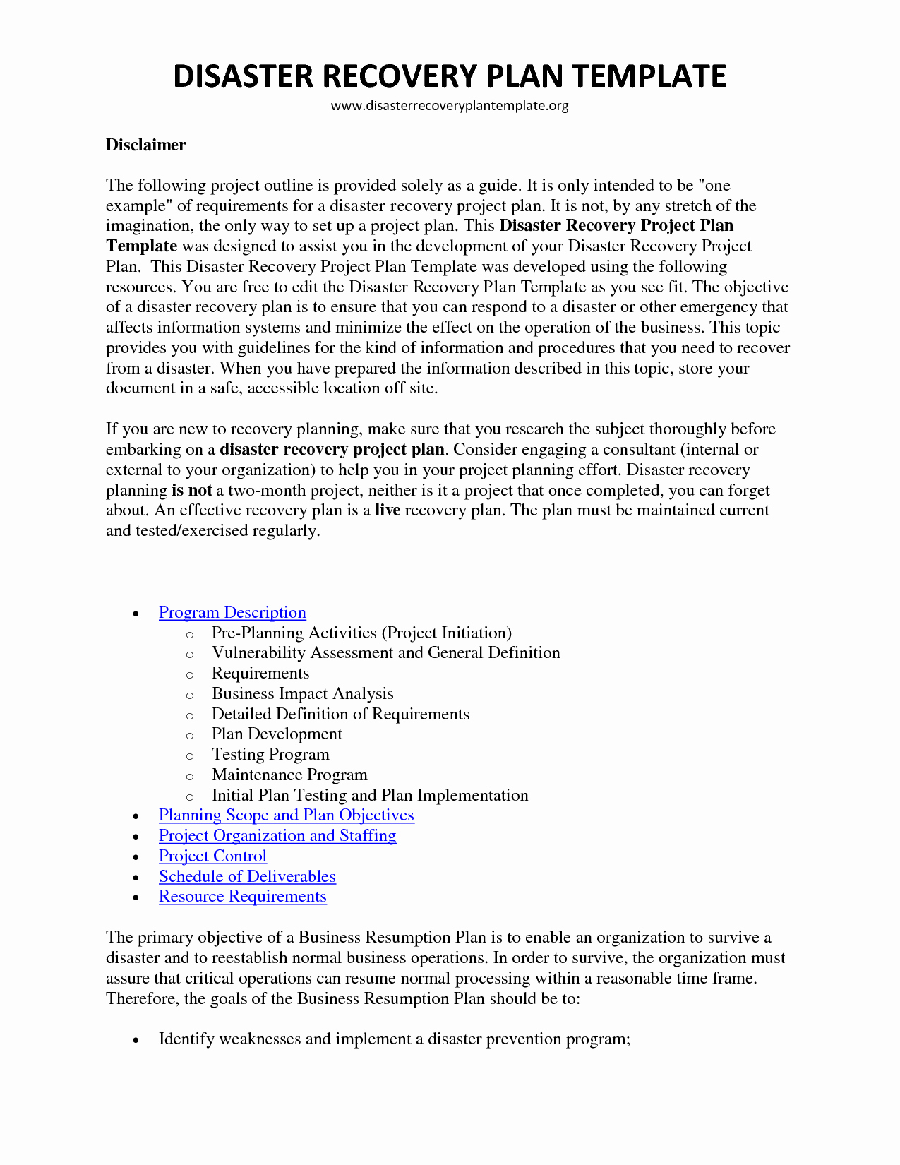 Business Disaster Recovery Plan Template Fresh Disaster Recovery Plan Template