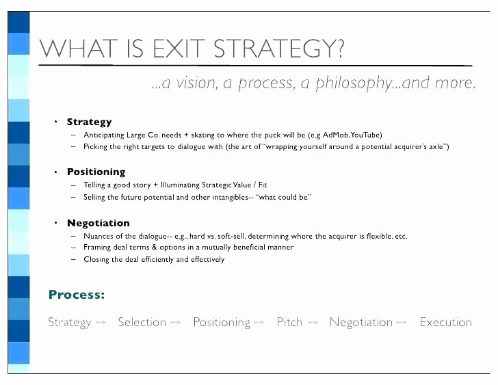 Business Exit Strategy Template Awesome Business Exit Strategy Template Sample Your Business Plan