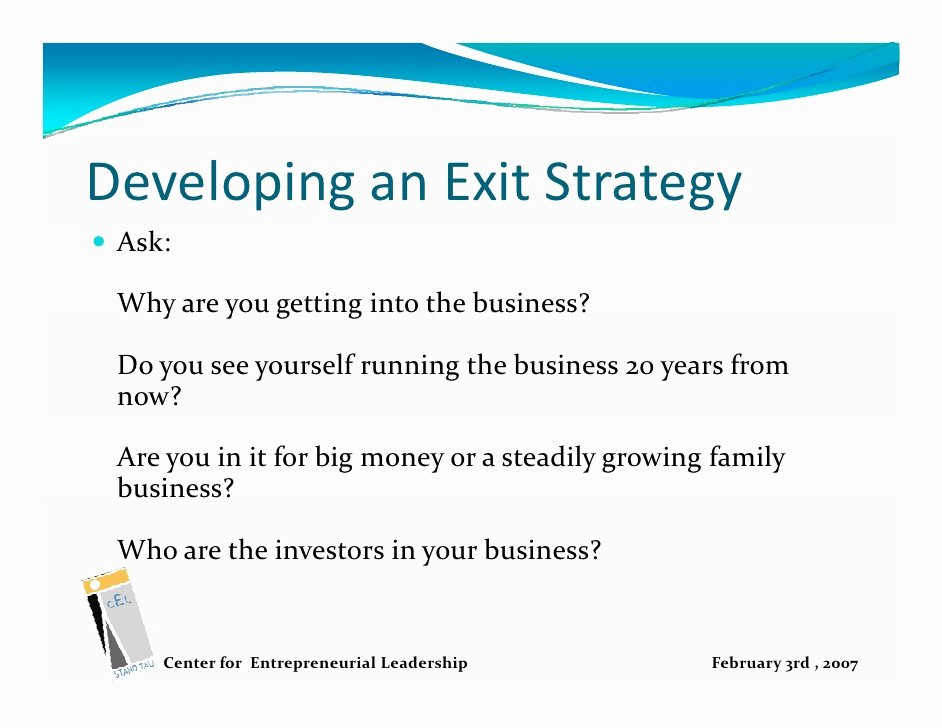Business Exit Strategy Template Elegant Exit Strategy Business Plan Sample – Business form Templates