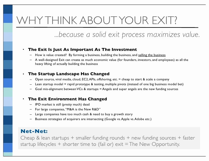 Business Exit Strategy Template Luxury Startup Exit Strategy thought Piece V7 6