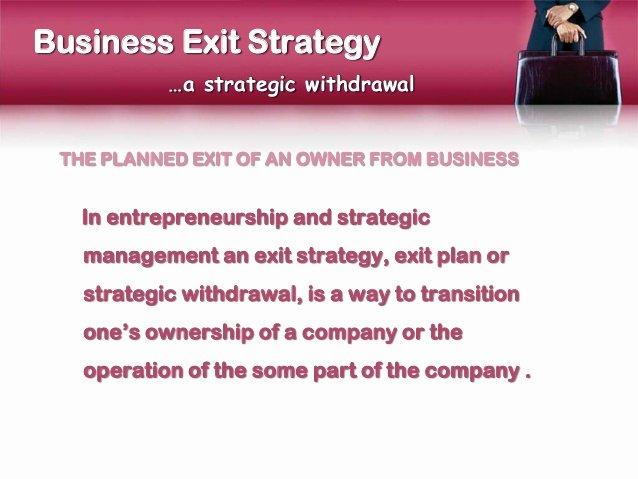 Business Exit Strategy Template Unique Business Exit Strategy Presentation