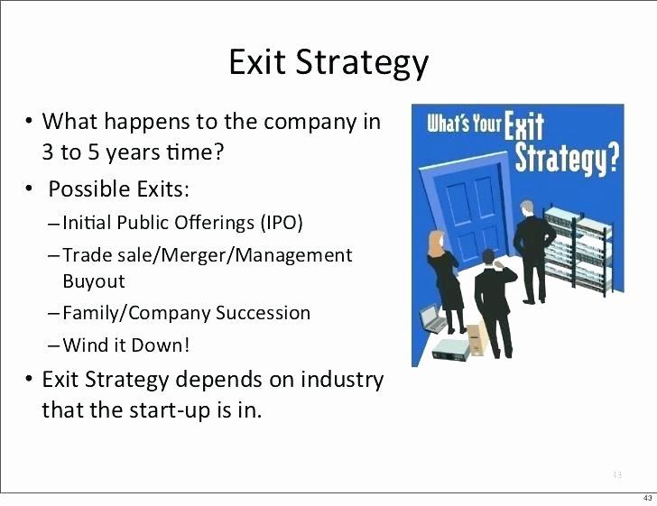 Business Exit Strategy Template Unique Business Exit Strategy Template Sample Your Business Plan