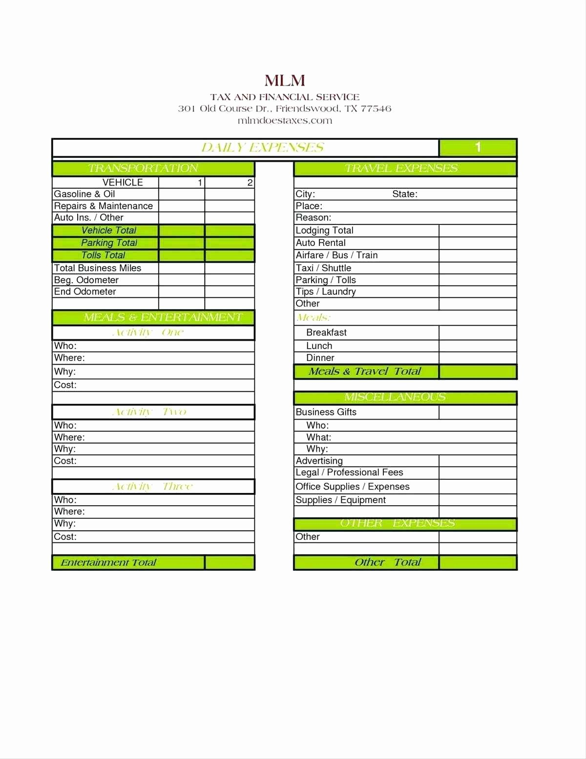 Business Expense Sheet Template Inspirational Template Excel Sheet Template for Monthly Expenses