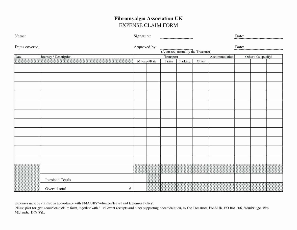 Business Expense Template Free Unique Template Business Expenses form Template