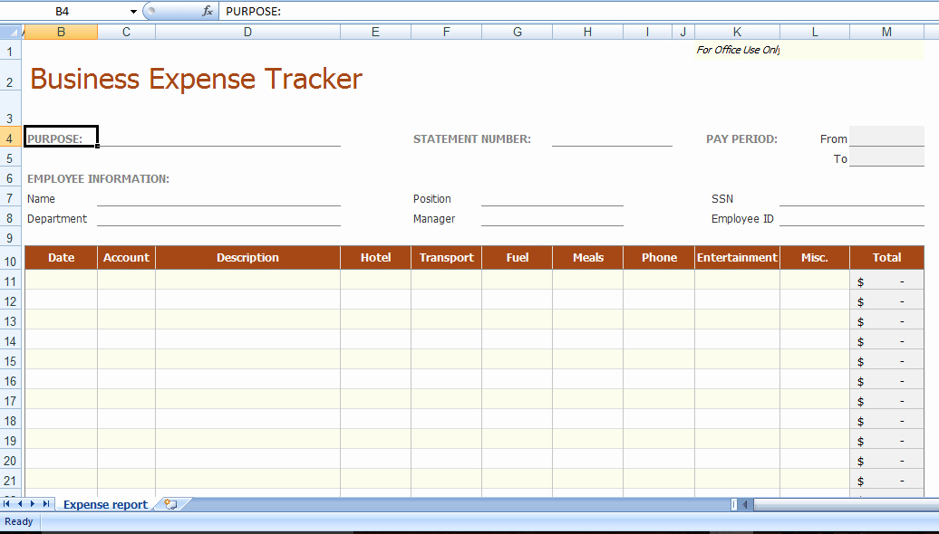 Business Expense Tracker Template Beautiful 8 Business Expense Tracker Templates Excel Templates