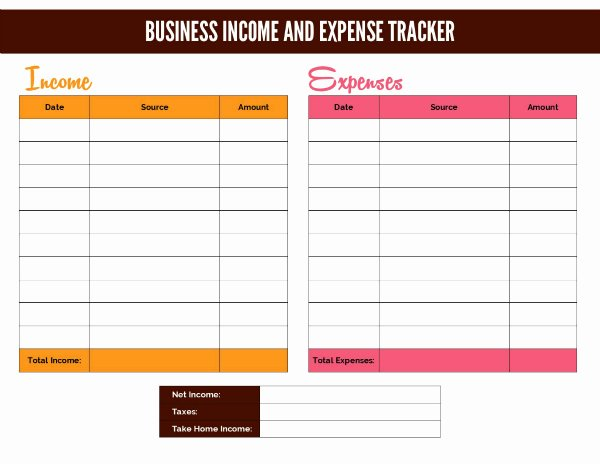 Business Expense Tracker Template Beautiful Free Business In E Worksheet and Google Doc