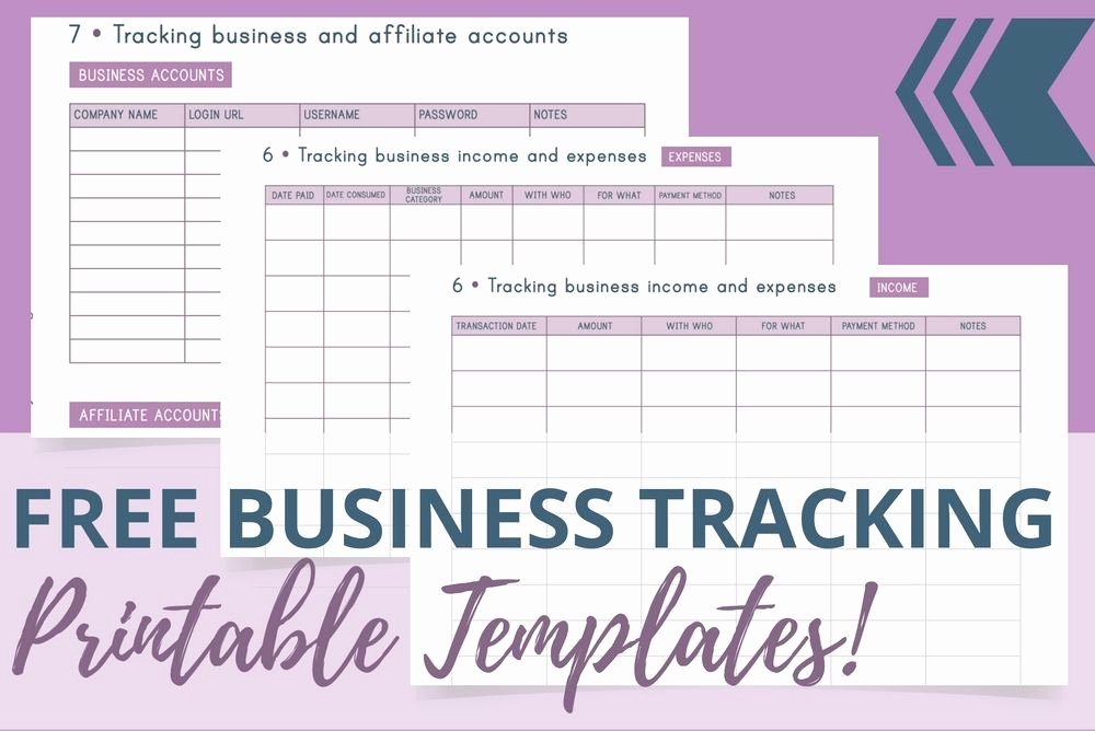 Business Expense Tracker Template Best Of Free Business Tracking Printable Templates Redefining Mom