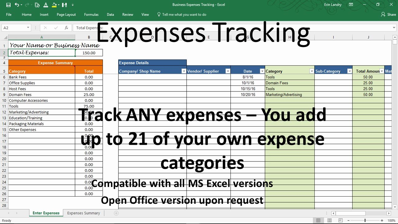 Business Expense Tracker Template Fresh Overhead Expense Template Small Business Expenses