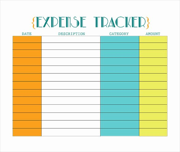 Business Expense Tracker Template Luxury 18 Expense Tracking Templates – Free Sample Example