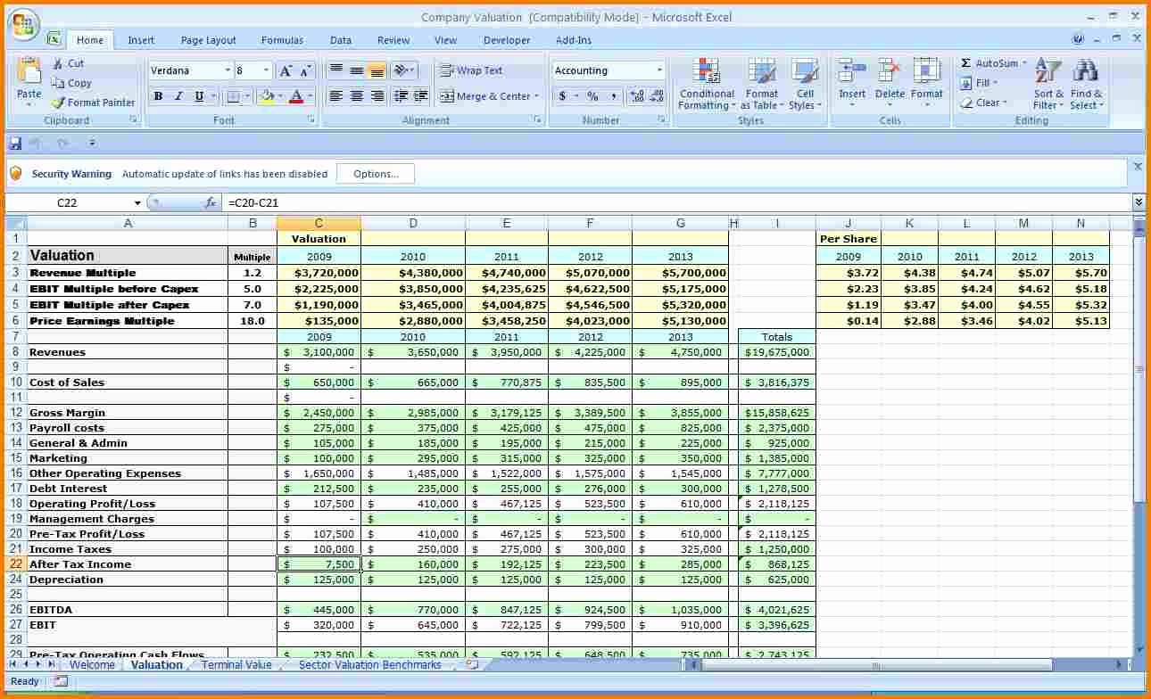 Business Expenses Excel Template New Excel Business Bud Template