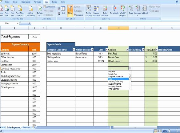 Business Expenses List Template New Expense Tracking Template 18 Free Word Excel Pdf