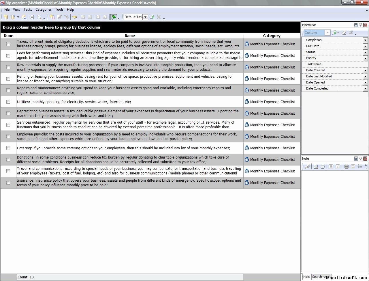 Business Expenses List Template Unique Business Templates