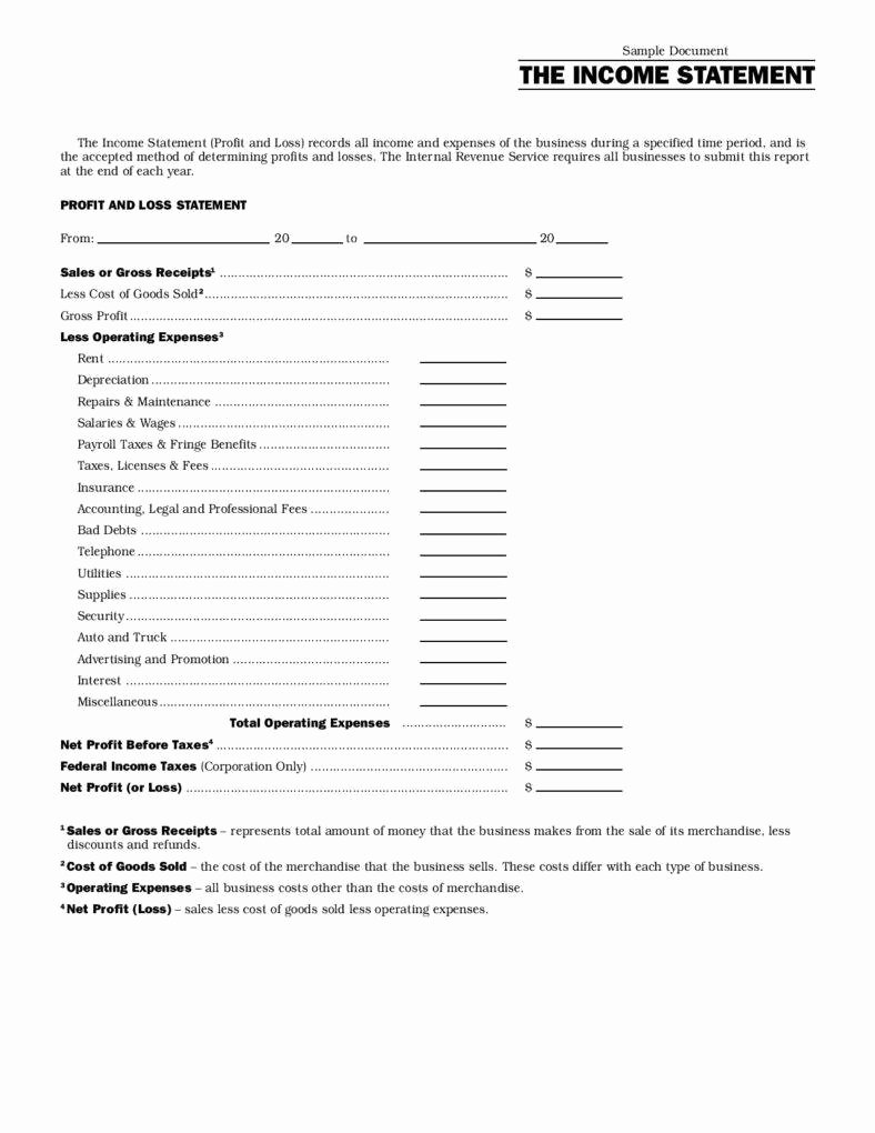 Business Income Statement Template Best Of 13 Different Types Of Financial Reports
