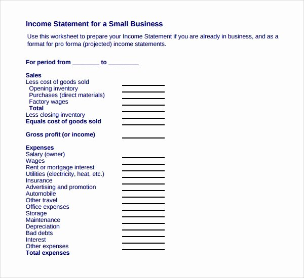Business Income Statement Template Best Of 8 Business Statement Templates to Download