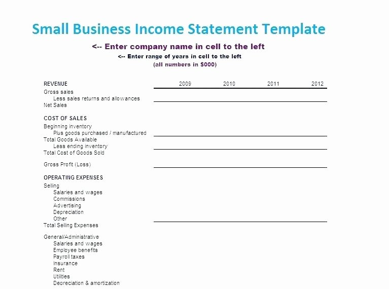 Business Income Statement Template Fresh Sample In E Statement for Small Business – Threestrands