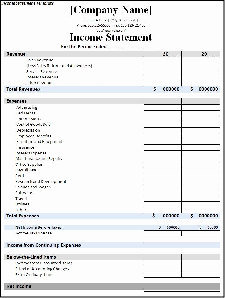 Business Income Statement Template Unique 7 Free In E Statement Templates Excel Pdf formats