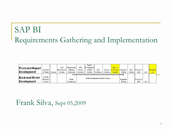 Business Intelligence Report Requirements Template Beautiful Sap Bi Requirements Gathering Process