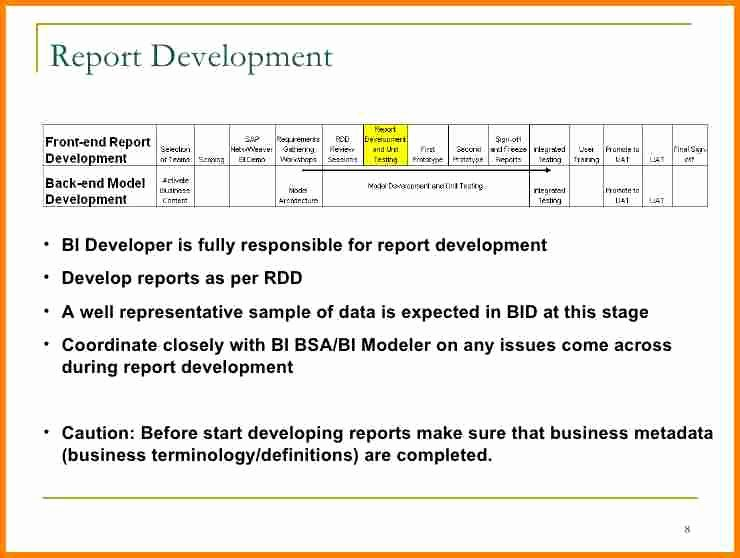 Business Intelligence Report Requirements Template Best Of 8 Reporting Requirements Template
