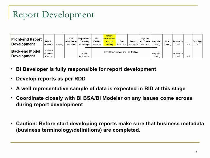 Business Intelligence Report Requirements Template Fresh Business Intelligence Report Requirements Template