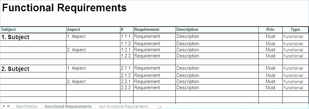 Business Intelligence Report Requirements Template Fresh Download Reporting Requirement Template Business