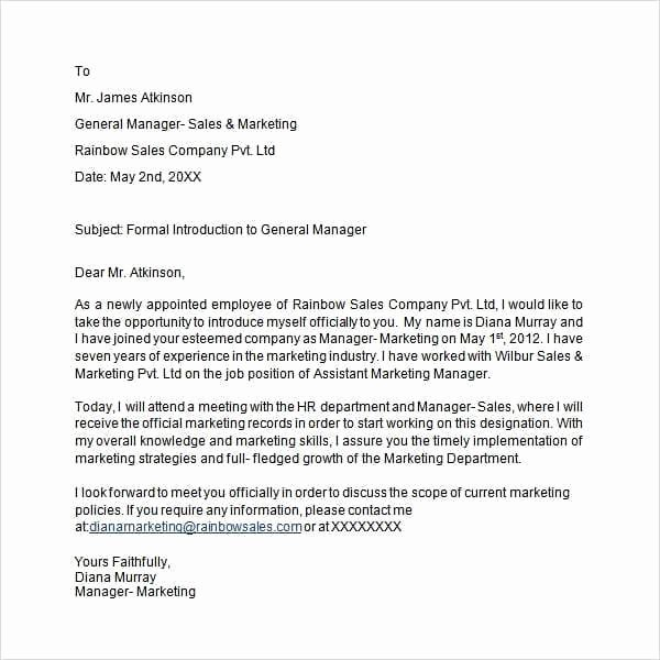 Business Introduction Email Template Beautiful 7 Business Introduction Email Templates Word Excel Pdf