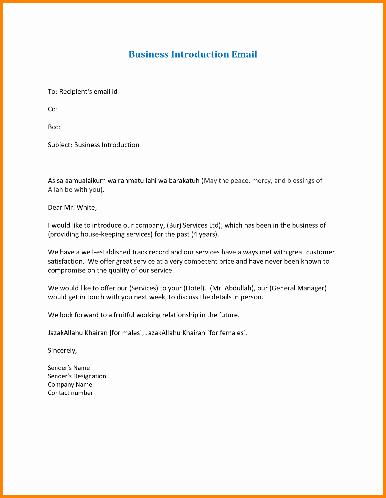 Business Introduction Email Template Inspirational 7 Introduction Emails for Business