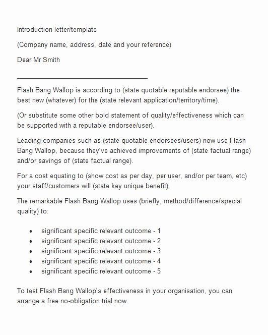 Business Introduction Email Template Unique 40 Letter Of Introduction Templates & Examples