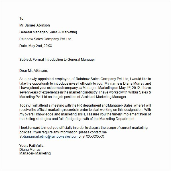 Business Introduction Letter Template Best Of 30 Sample Introduction Letters to Download for Free