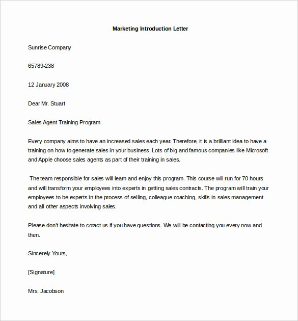 Business Introduction Letter Template Best Of 9 Letter Of Introduction Templates Pdf Doc