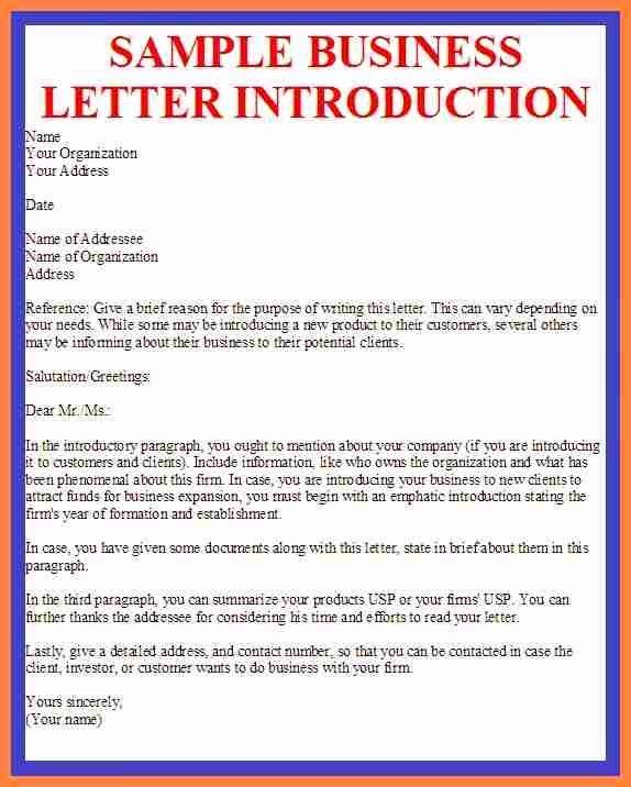 Business Introduction Letter Template Elegant 7 Pany Business Introduction Letter Sample