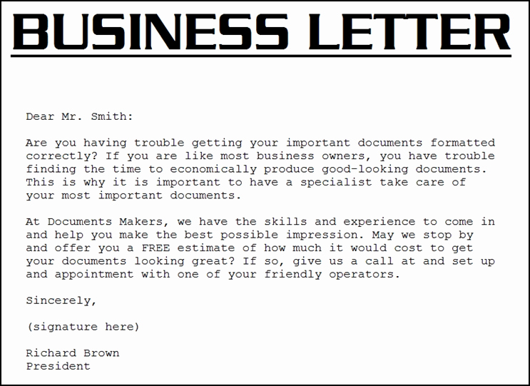 Business Introduction Letter Template Elegant Sample Business Letter September 2015