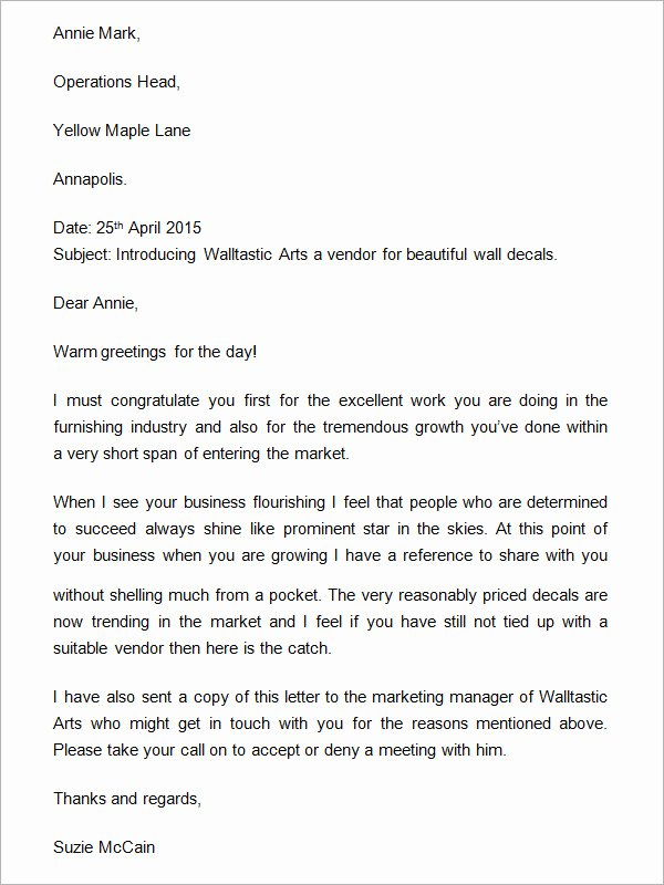 Business Introduction Letter Template New 18 Sample Business Introduction Letters Pdf Do9