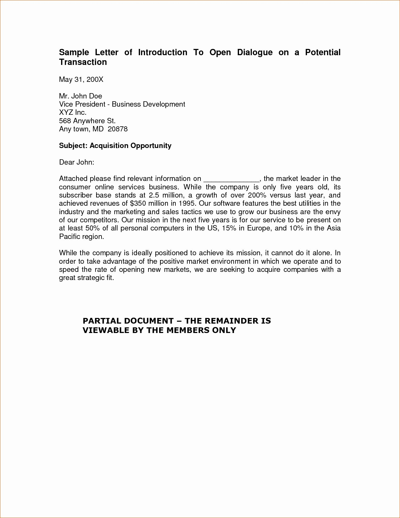 Business Introduction Letter Template Unique Elegant Business Introduction Letter