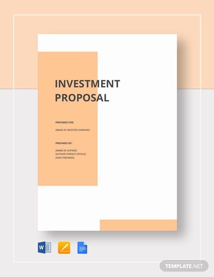 Business Investment Proposal Template Awesome 27 Investment Proposal Templates Pdf Doc