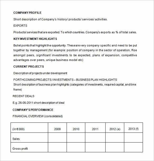 Business Investment Proposal Template Fresh 20 Investment Proposal Templates Pdf Doc