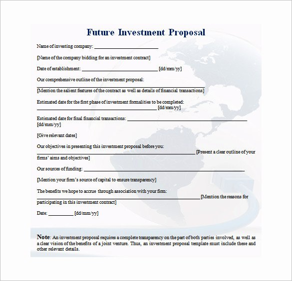 Business Investment Proposal Template Unique 20 Investment Proposal Templates Pdf Doc