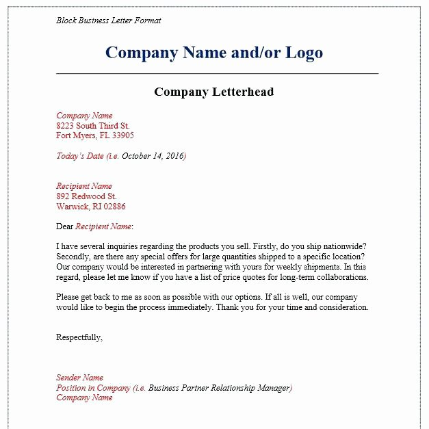 Business Letter Template with Logo Awesome 13 Letter Head formats