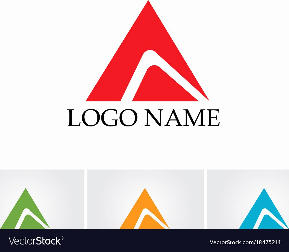 Business Letter Template with Logo Awesome A Letter Logo Business Template Icon Royalty Free Vector