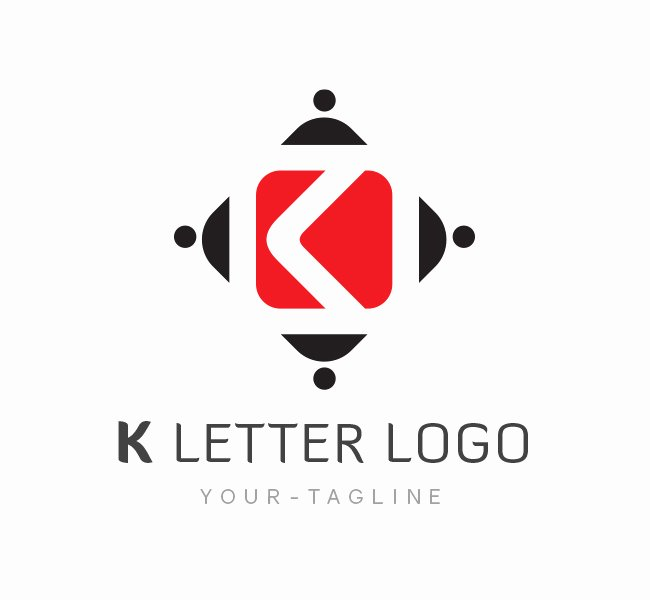 Business Letter Template with Logo Awesome K Letter Logo & Business Card Template the Design Love