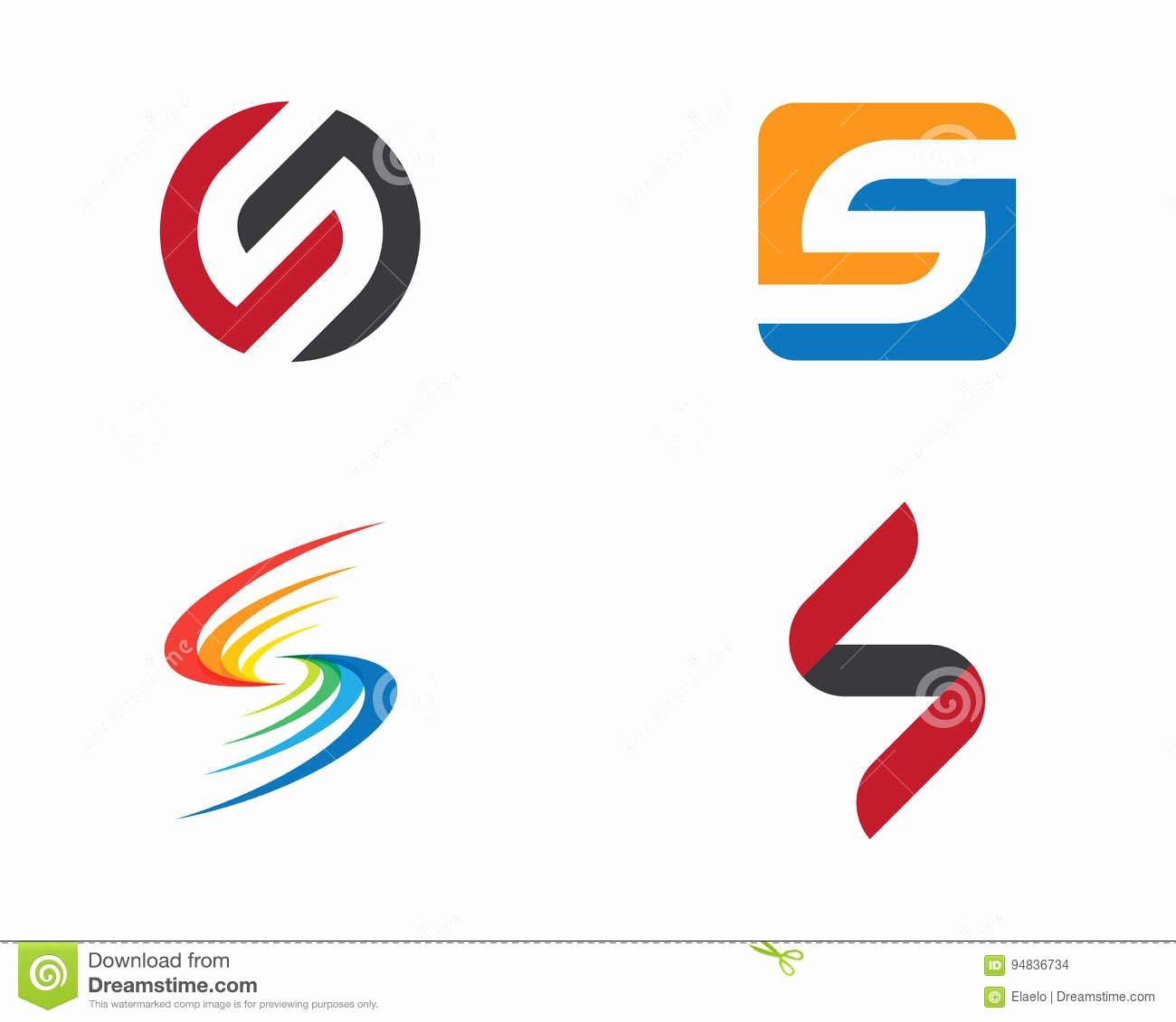 Business Letter Template with Logo Elegant Business Corporate S Letter Logo Design Vector Stock